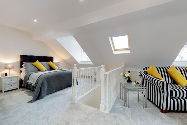 Bedroom of new home near Chester