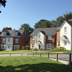 Row of new homes in Wrexham